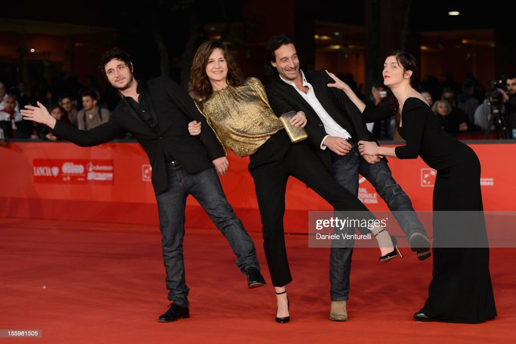 Jeremie Elkaim Valerie Lemercier Edouard Weill and Valerie Donzelli attend 'Main Dans La Main' Premiere during The 7th Rome Film Festival at...