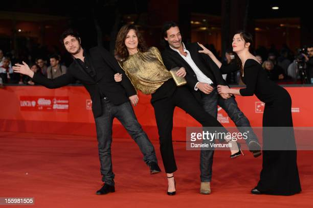 Jeremie Elkaim Valerie Lemercier Edouard Weill and Valerie Donzelli attend 'Main Dans La Main' Premiere during The 7th Rome Film Festival at...