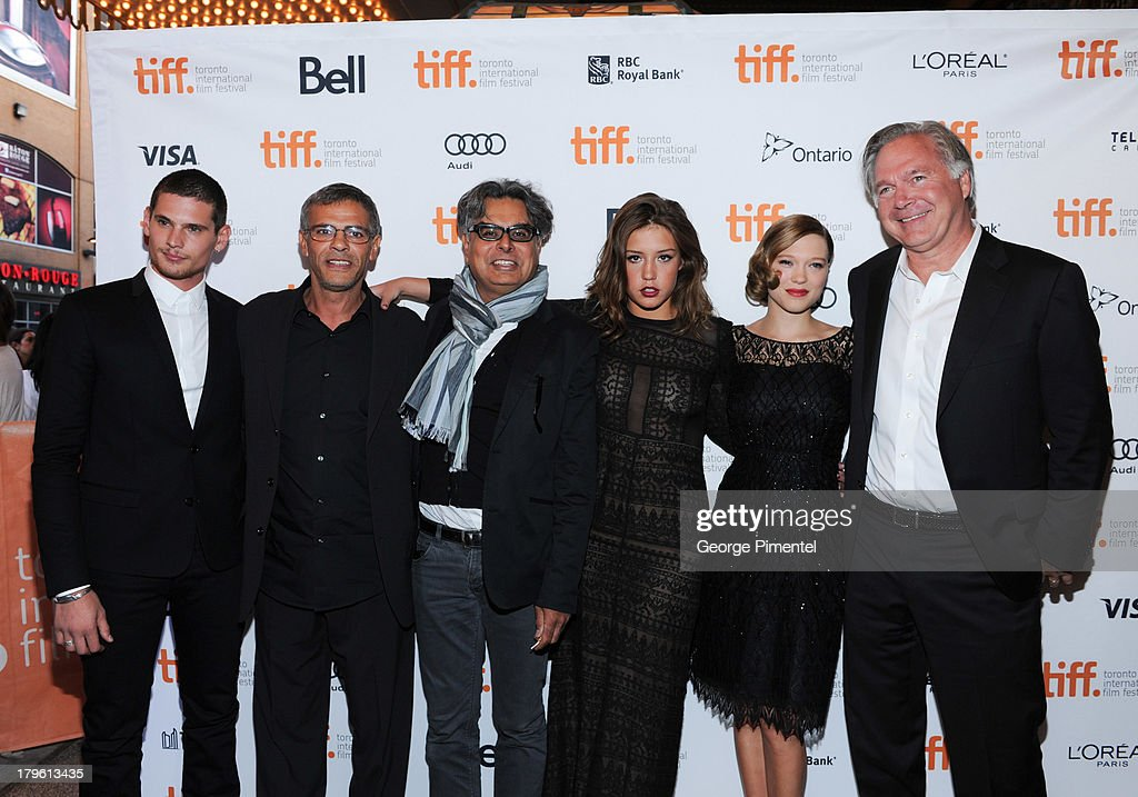 Ê (L-R) Jeremie Laheurte, Director Abdellatif Kechiche, President of Mongrel Media Hussain Amarshi, Adele Exarchopoulos, Lea Seydoux andÊPresident of Sundance Selects and IFC Films Jonathan SehringÊattend Blue Is The Warmest Color Premiere at the Winter Garden Theatre on September 5, 2013 in Toronto, Canada.ÊÊ