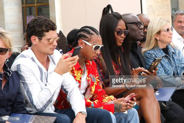 Jeremie Laheurte Tyga and Naomi Campbell attend the Louis Vuitton Menswear Spring/Summer 2018 show as part of Paris Fashion Week on June 22 2017 in...