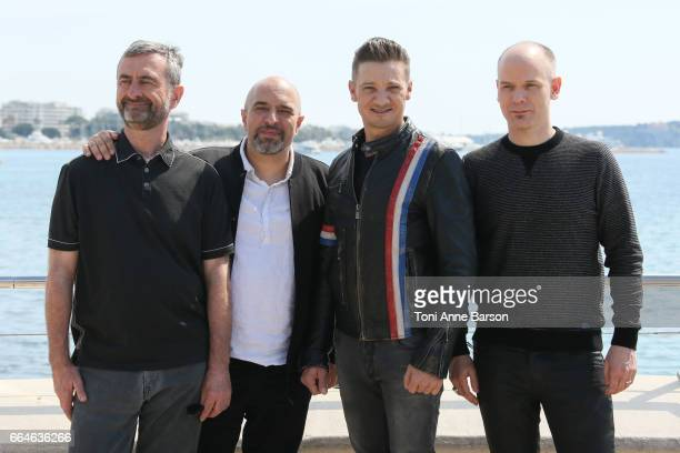 Jeremie Renner and guests attend 'Knightfall' photocall during MIPTV 2017 on April 4 2017 in Cannes France