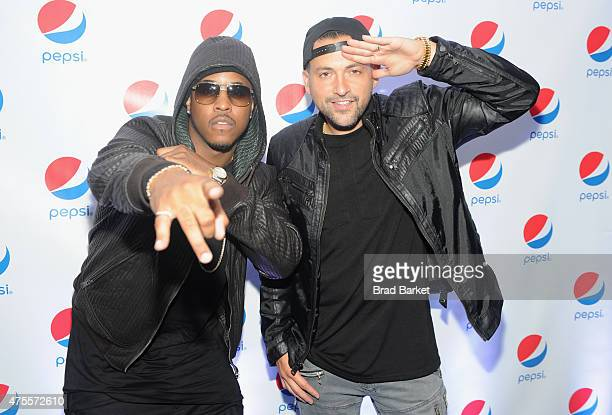 Jeremih and DJ Prostyle attend the Pepsi and iHeartRadio Summer Kickoff Party on board the Hornblower Infinity on June 1 2015 in New York City