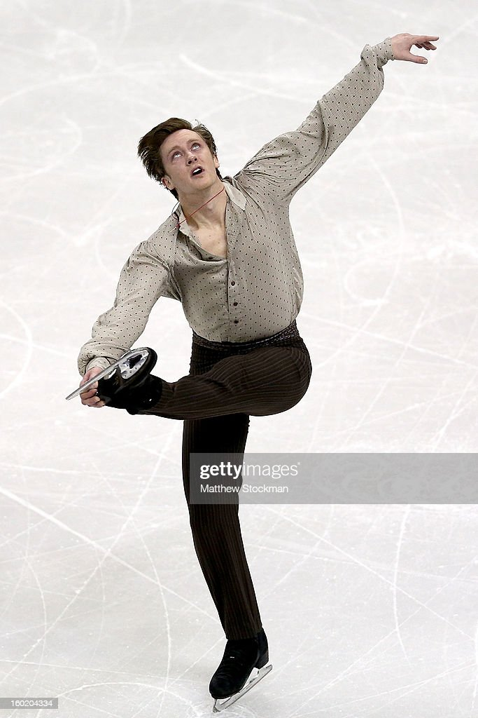 Jeremy Abbott competes in the Men's Free Skate during the 2013 Prudential U.S. Figure Skating Championships at CenturyLink Center on January 27, 2013 in Omaha, Nebraska.