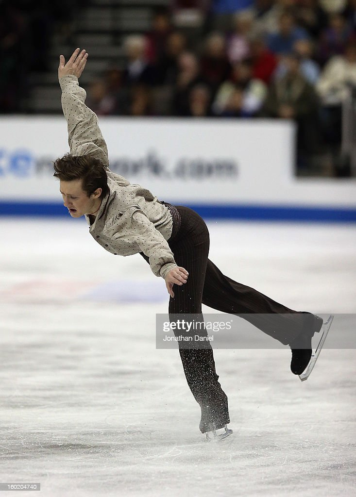 Jeremy Abbott competes in the Mens Free Skate during the 2013 Prudential U.S. Figure Skating Championships at CenturyLink Center on January 27, 2013 in Omaha, Nebraska.