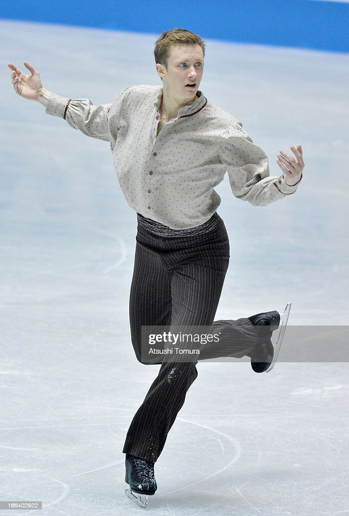 Jeremy Abbott of USA competes in the men's free program during day two of the ISU World Team Trophy at Yoyogi National Gymnasium on April 12, 2013 in Tokyo, Japan.