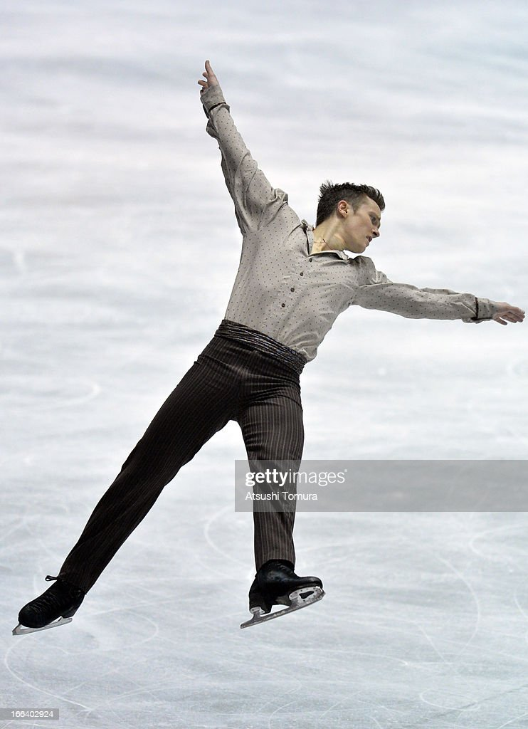 <a gi-track='captionPersonalityLinkClicked' href=/galleries/search?phrase=Jeremy+Abbott&family=editorial&specificpeople=4125520 ng-click='$event.stopPropagation()'>Jeremy Abbott</a> of USA competes in the men's free program during day two of the ISU World Team Trophy at Yoyogi National Gymnasium on April 12, 2013 in Tokyo, Japan.