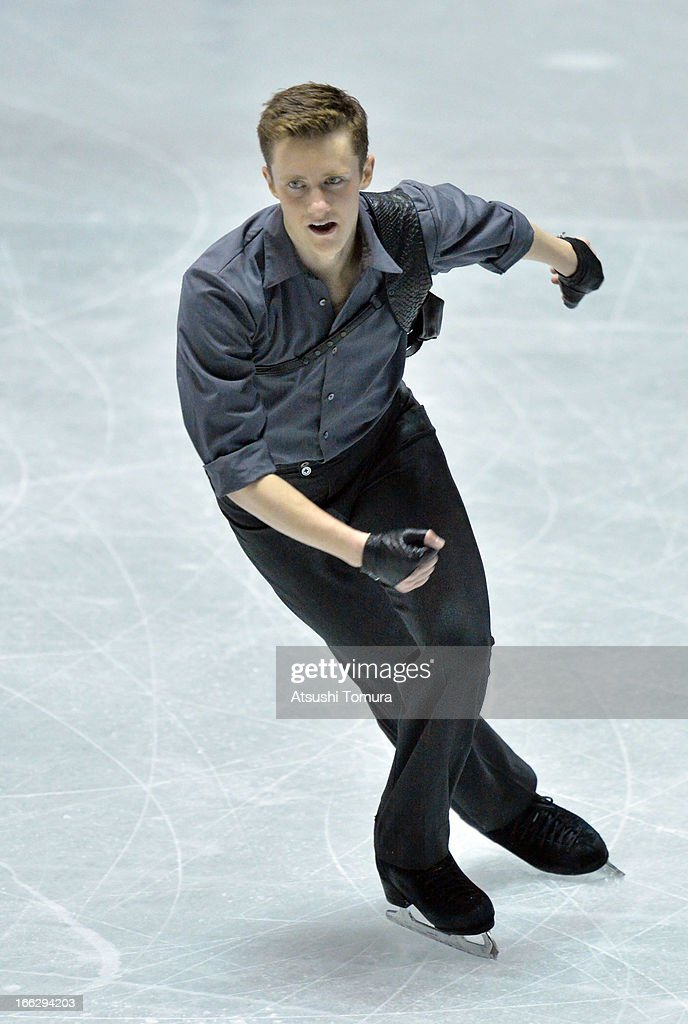 Jeremy Abbott of USA competes in the men's short program during day one of the ISU World Team Trophy at Yoyogi National Gymnasium on April 11, 2013 in Tokyo, Japan.