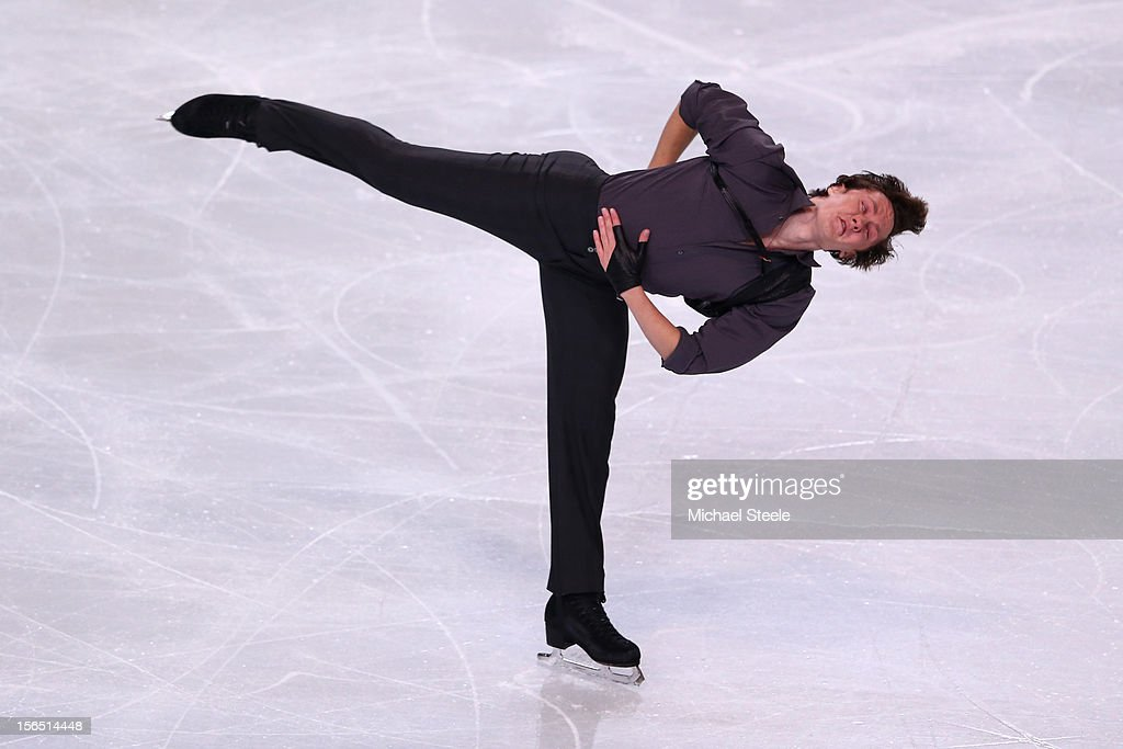 <a gi-track='captionPersonalityLinkClicked' href=/galleries/search?phrase=Jeremy+Abbott&family=editorial&specificpeople=4125520 ng-click='$event.stopPropagation()'>Jeremy Abbott</a> of USA during the Men's Short Program on day one of the ISU Grand Prix of Figure Skating Trophee Eric Bompard at Omnisports Bercy on November 16, 2012 in Paris, France.