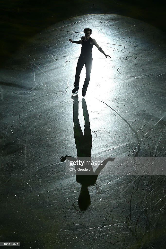 <a gi-track='captionPersonalityLinkClicked' href=/galleries/search?phrase=Jeremy+Abbott&family=editorial&specificpeople=4125520 ng-click='$event.stopPropagation()'>Jeremy Abbott</a> skates in the Smucker's Skating Spectacular event during the Skate America competition at the ShoWare Center on October 21, 2012 in Kent, Washington.