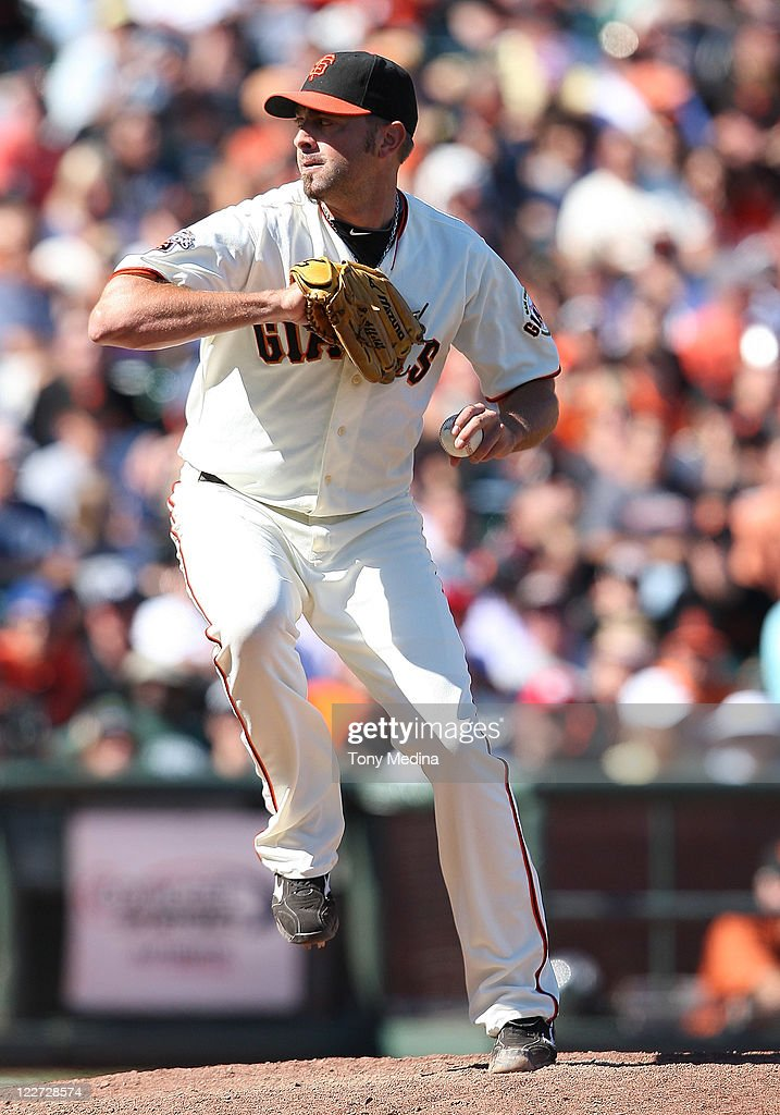 <a gi-track='captionPersonalityLinkClicked' href=/galleries/search?phrase=Jeremy+Affeldt&family=editorial&specificpeople=214238 ng-click='$event.stopPropagation()'>Jeremy Affeldt</a> #41 of the San Francisco Giants pitches during a game between the Houston Astros and the San Francisco Giants at AT&T Park on August 28, 2011 in San Francisco, California.