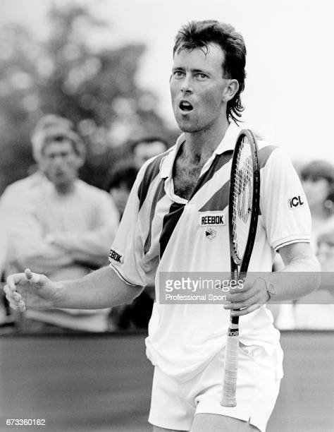 Jeremy Bates of Great Britain during the Wimbledon Championships held at the All England Lawn Tennis and Croquet Club in Wimbledon London circa June...