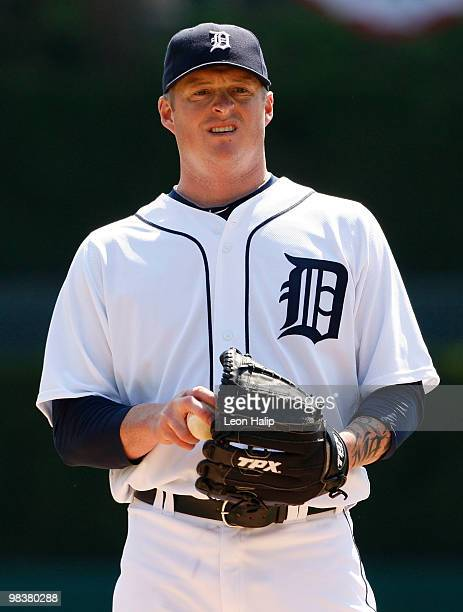 Jeremy Bonderman of the Detroit Tigers pitches in the first inning against the Cleveland Indians on April 10 2010 at Comerica Park in Detroit Michigan