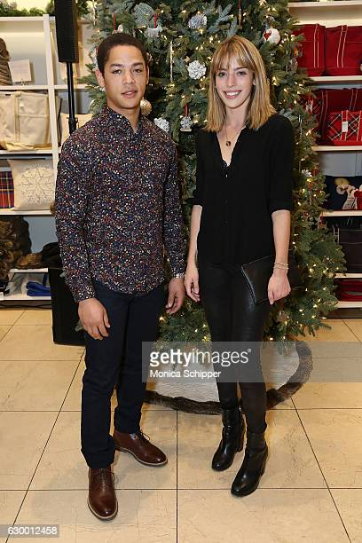 Jeremy Carver and Clara McGregor attend the Daily Front Row Lands' End Holiday Celebration on December 15 2016 in New York City