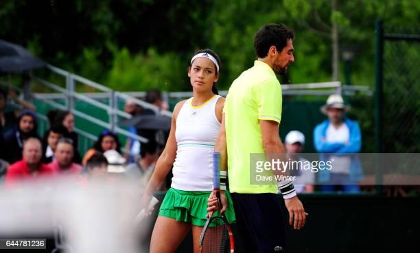 Jeremy CHARDY / Alize LIM Tennis Roland Garros 2014 Photo Dave Winter / Icon Sport