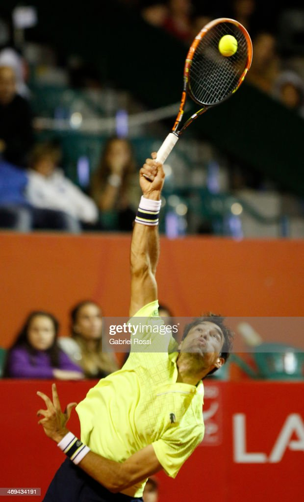 <a gi-track='captionPersonalityLinkClicked' href=/galleries/search?phrase=Jeremy+Chardy&family=editorial&specificpeople=599085 ng-click='$event.stopPropagation()'>Jeremy Chardy</a> of France serves during a tennis match between Nicolas Almagro and <a gi-track='captionPersonalityLinkClicked' href=/galleries/search?phrase=Jeremy+Chardy&family=editorial&specificpeople=599085 ng-click='$event.stopPropagation()'>Jeremy Chardy</a> as part of ATP Buenos Aires Copa Claro on February 14, 2014 in Buenos Aires, Argentina.