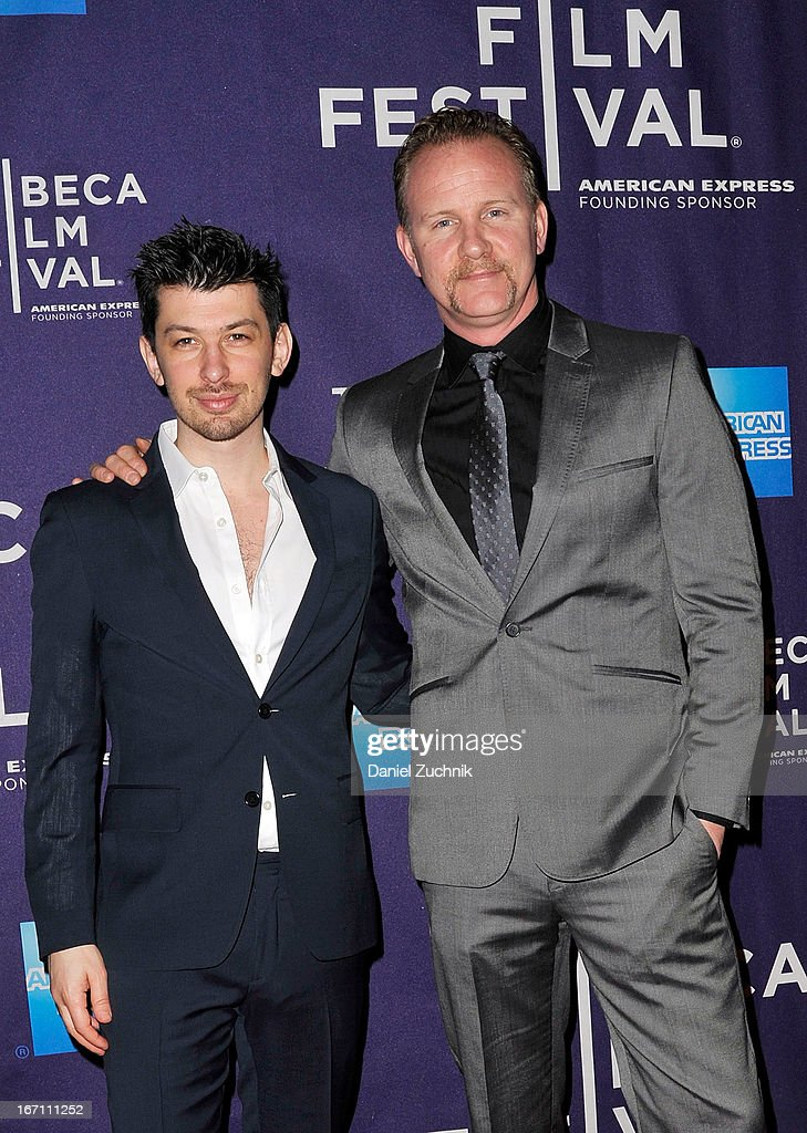 Jeremy Chilnick and <a gi-track='captionPersonalityLinkClicked' href=/galleries/search?phrase=Morgan+Spurlock&family=editorial&specificpeople=212719 ng-click='$event.stopPropagation()'>Morgan Spurlock</a> attend the screening of 'Dancing in Jaffa' during the 2013 Tribeca Film Festival at AMC Loews Village 7 on April 20, 2013 in New York City.