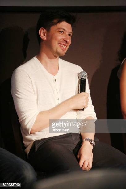Jeremy Chilnick smiles during the Warrior Poets panel discussion for SeriesFest Season 3 at Sie FilmCenter on June 28 2017 in Denver Colorado