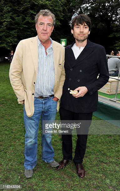 Jeremy Clarkson and Alex James attend a Preview Night of the Taste of London at The LaurentPerrier Secret Garden in Regent's Park on June 15 2011 in...