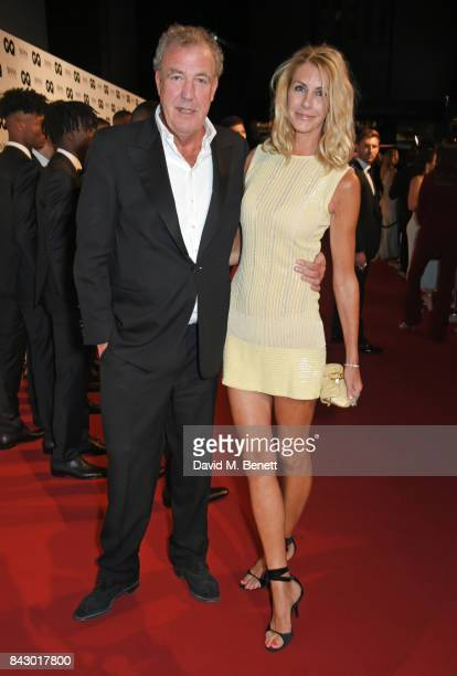 Jeremy Clarkson and Lisa Hogan attend the GQ Men Of The Year Awards at the Tate Modern on September 5 2017 in London England