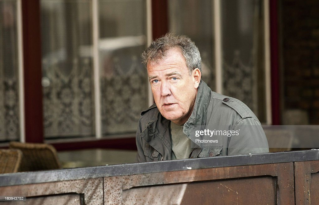 <a gi-track='captionPersonalityLinkClicked' href=/galleries/search?phrase=Jeremy+Clarkson&family=editorial&specificpeople=217586 ng-click='$event.stopPropagation()'>Jeremy Clarkson</a> and the Top Gear crew are pictured during filming in downtown Bruges with a McLaren P1 hybrid car on October 10, 2013 in Bruges, Belgium.