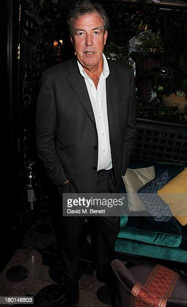 Jeremy Clarkson attends the Tatler Bystander exhibition featuring the 50 best party pictures of the past 50 years at Annabels on September 9 2013 in...