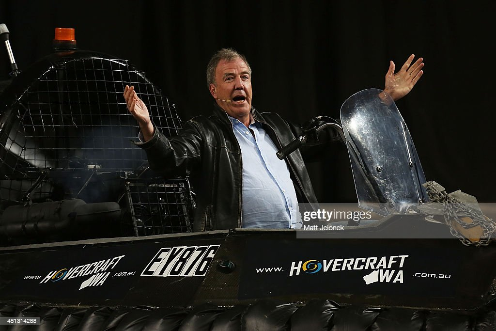 Jeremy Clarkson during Clarkson, Hammond and May Live! at Perth Arena on July 19, 2015 in Perth, Australia.