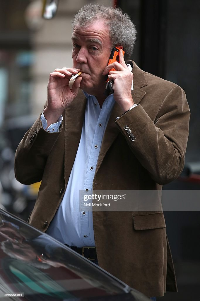 Jeremy Clarkson heads to The Ritz Club for lunch on March 19, 2015 in London, England.