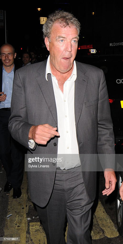 Jeremy Clarkson leaving Cafe de Paris Club on June 20, 2013 in London, England.