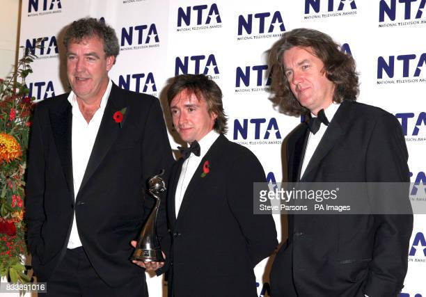 Jeremy Clarkson Richard Hammond and James May backstage during the National Television Awards 2007 Royal Albert Hall London