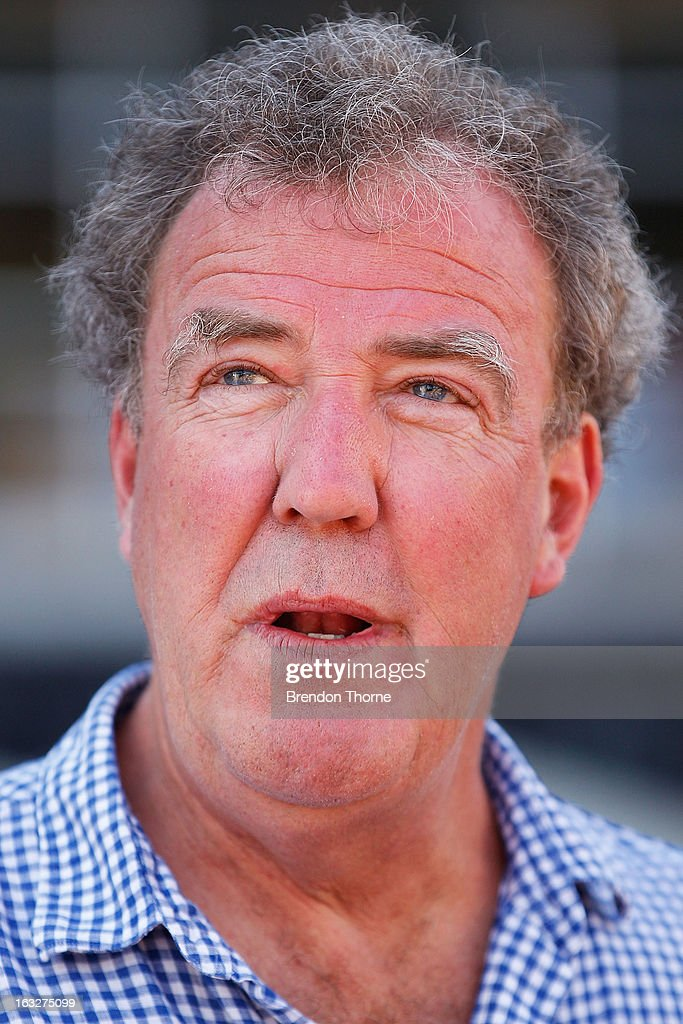 <a gi-track='captionPersonalityLinkClicked' href=/galleries/search?phrase=Jeremy+Clarkson&family=editorial&specificpeople=217586 ng-click='$event.stopPropagation()'>Jeremy Clarkson</a> speaks with the media at Campbell's Cove Boardwalk ahead of the Inaugural Top Gear Festival Sydney this weekend, on March 7, 2013 in Sydney, Australia.
