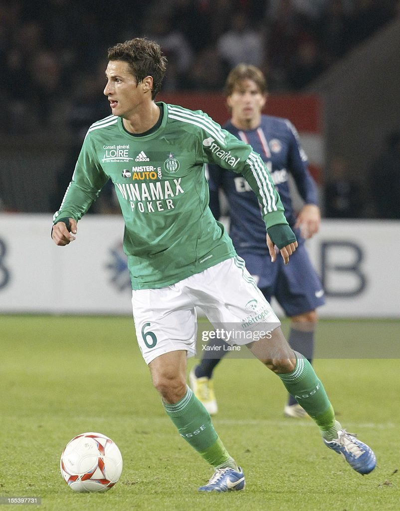 Jeremy Clement of AS Saint-Etienne during the French Ligue 1 between Paris Saint-Germain FC and AS Saint-Etienne, at Parc des Princes on November 03, 2012 in Paris, France.