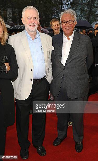 Jeremy Corbyn and Sir David Tang attend the 'Snowden' Headline Gala screening during the 60th BFI London Film Festival at Odeon Leicester Square on...