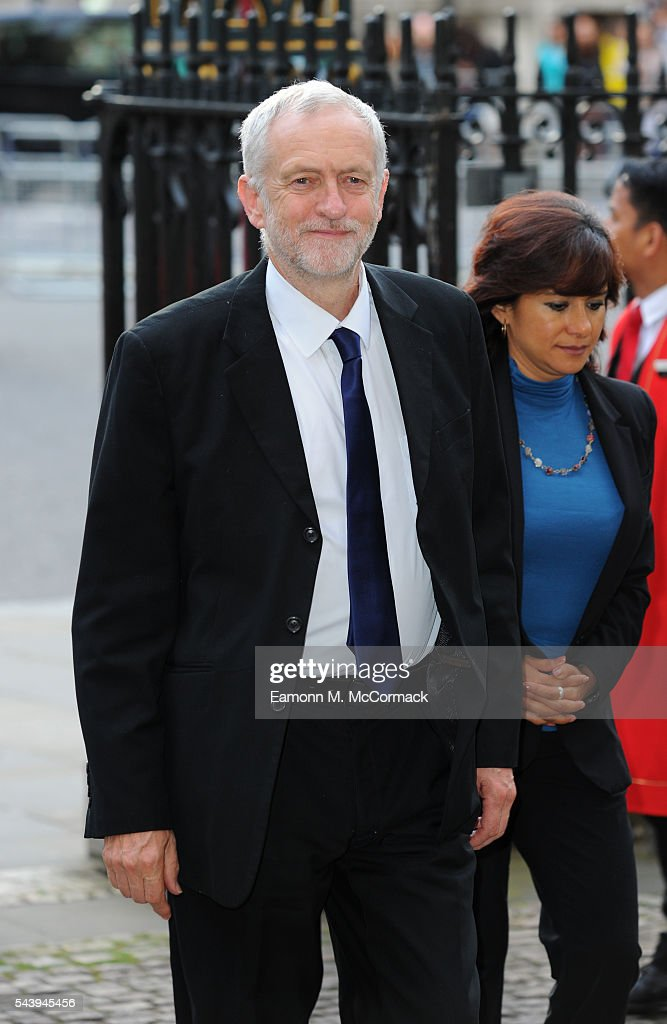 <a gi-track='captionPersonalityLinkClicked' href=/galleries/search?phrase=Jeremy+Corbyn&family=editorial&specificpeople=2596361 ng-click='$event.stopPropagation()'>Jeremy Corbyn</a> attends Service on the eve of the centenary of The Battle of The Somme at Westminster Abbey on June 30, 2016 in London, England.