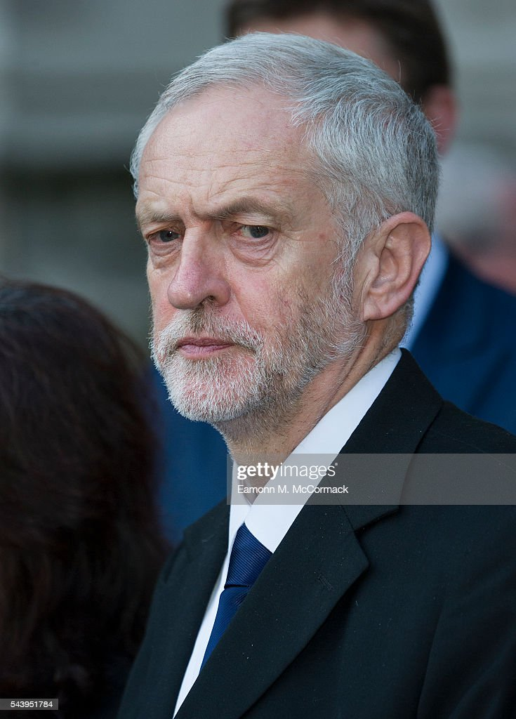 Jeremy Corbyn attends Service on the eve of the centenary of the Battle of The Somme at Westminster Abbey on June 30, 2016 in London, England.