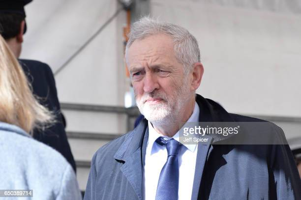 Jeremy Corbyn during the dedication and unveiling of The Iraq and Afghanistan memorial on March 9 2017 in London England