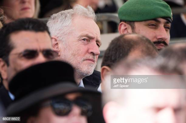 Jeremy Corbyn during the dedication service of The Iraq and Afghanistan memorial at Horse Guards Parade on March 9 2017 in London England
