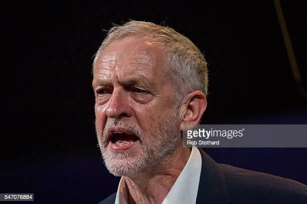 Jeremy Corbyn Leader of Labour Party speaks at the biannual Unite policy conference at the Brighton Centre on July 13 2016 in Brighton England The...
