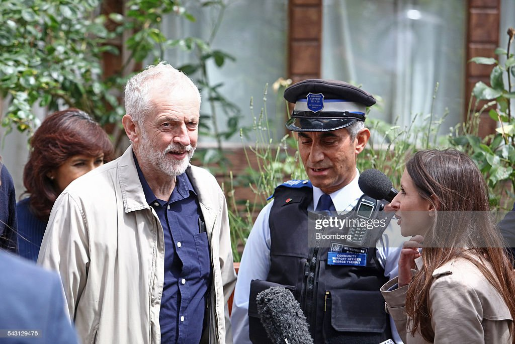 <a gi-track='captionPersonalityLinkClicked' href=/galleries/search?phrase=Jeremy+Corbyn&family=editorial&specificpeople=2596361 ng-click='$event.stopPropagation()'>Jeremy Corbyn</a>, leader of the U.K. opposition Labour Party, leaves his house in London, U.K, on Sunday, June 26, 2016. Senior Labour lawmaker Hilary Benn called on <a gi-track='captionPersonalityLinkClicked' href=/galleries/search?phrase=Jeremy+Corbyn&family=editorial&specificpeople=2596361 ng-click='$event.stopPropagation()'>Jeremy Corbyn</a> to resign as party leader and suggested other members of Corbyns senior team will follow suit. Photographer: Chris Ratcliffe/Bloomberg via Getty Images