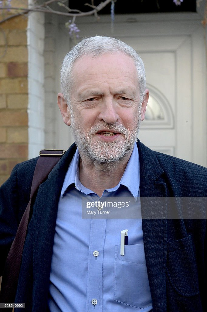 Jeremy Corbyn leaves his home as the London Mayoral, Local Council and Assembly Election results start to come in, on May 6, 2016 in London, England. Early predictions suggest that there will be bad results across Scotland for Labour but that their candidate Sadiq Khan will become the new London Mayor.