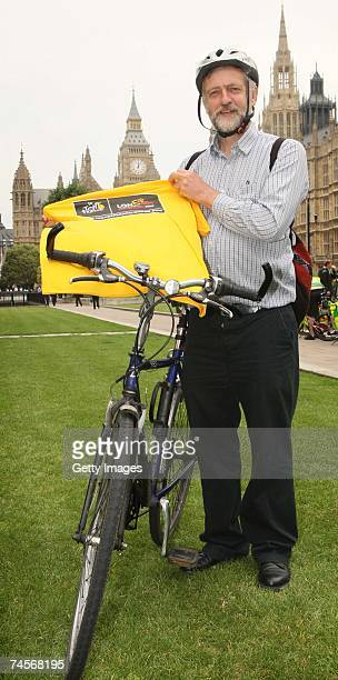 Jeremy Corbyn MP prepares for the Parliamentary Bike Ride on June 12 2007 in London The Tour de France Grand Dpart is coming to London on July 68 the...