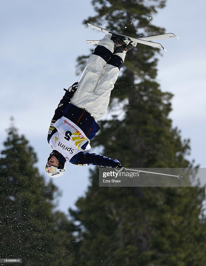 Jeremy Cota competes in the Men's Moguls at the U.S. Freestyle Moguls National Championship at Heavenly Resort on March 29, 2013 in South Lake Tahoe, California.