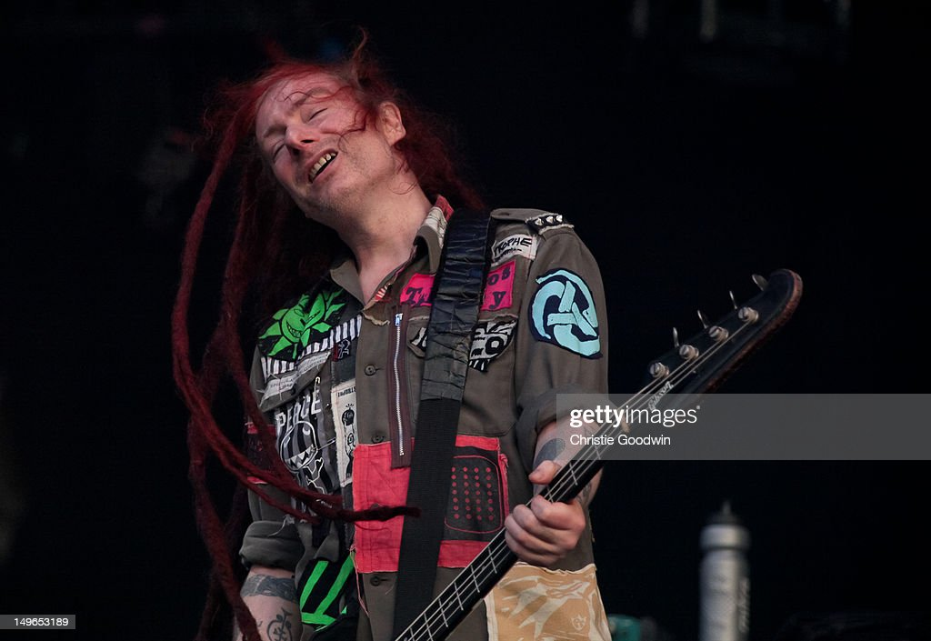 Jeremy Cunningham of The Levellers performs on stage during BT London Live at Hyde Park on August 1, 2012 in London, United Kingdom.