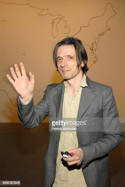 Jeremy Deller attends New Museum Presents Three M Project NEW COMMISSIONS at New Museum on February 10 2009 in New York City