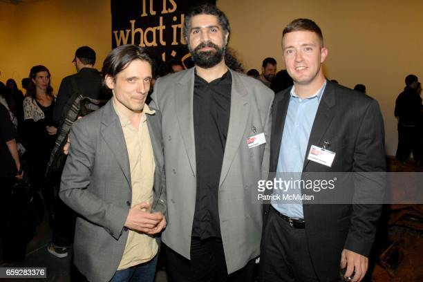 Jeremy Deller Esam Pasha and Jonathan Harvey attend New Museum Presents Three M Project NEW COMMISSIONS at New Museum on February 10 2009 in New York...