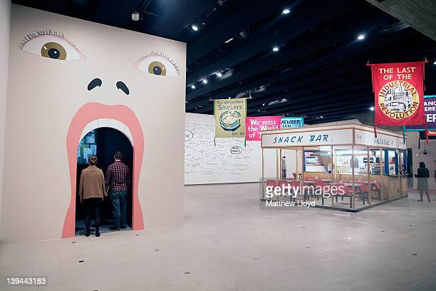Jeremy Deller's artwork'Valerie's Snack Bar ' a functioning replica of a market cafe in Bury which was created for a street parade in Manchester is...