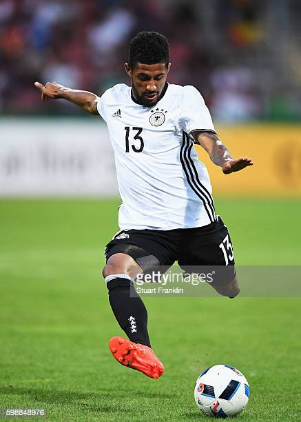 Jeremy Dudziak of Germany in action during the Under21 friendly match between U21 Germany and U21 Slovakia at Auestadion on September 2 2016 in...