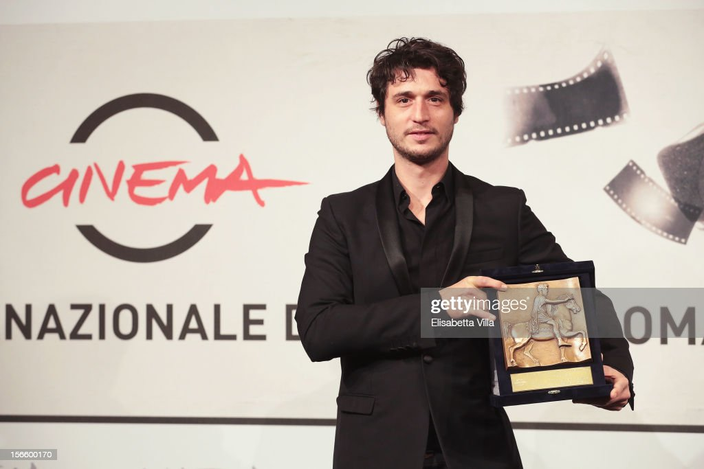 Jeremy Elkaim poses with his Best Actor Award during the Award Winners Photocall during the 7th Rome Film Festival at Auditorium Parco Della Musica on November 17, 2012 in Rome, Italy.