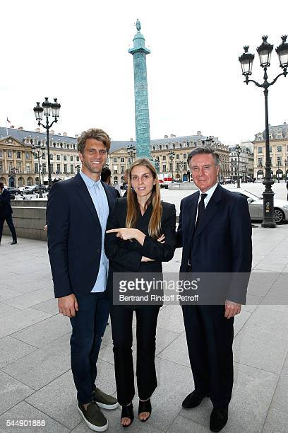 Jeremy Everett Creative director of the Italian jewellery brand Repossi Gaia Repossi and her father Alberto Repossi attend the Repossi Vendome...