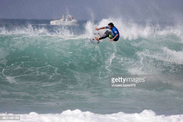 Jeremy Flores from France performs during the Quicksilver Pro France surf competition on October 12 2017 in Hossegor France he French stage of the...