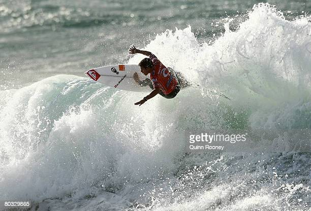 Jeremy Flores of France competes during Round One of the Rip Curl Pro as part of the ASP World Tour held at Bells Beach March 21 2008 in Torquay...